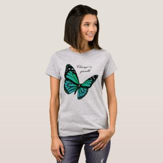 Teal Butterfly T Shirt