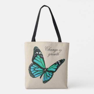 Teal Butterfly Tote