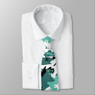 Teal Camo Tie