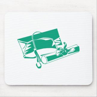 Teal Cap Diploma Mousepad