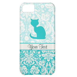 Teal Cat iPhone 5C Covers