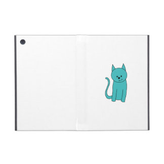 Teal Cat. Case For iPad Mini