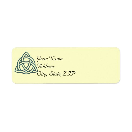 Teal Celtic Knot Return Address Label