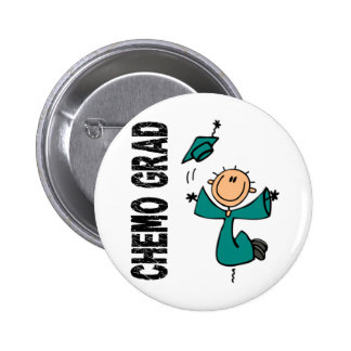 Teal CHEMO GRAD 1 (Ovarian Cancer) 6 Cm Round Badge