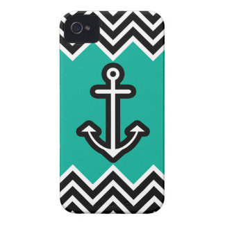 Teal Chevron Nautical Case-Mate iPhone 4 Cases