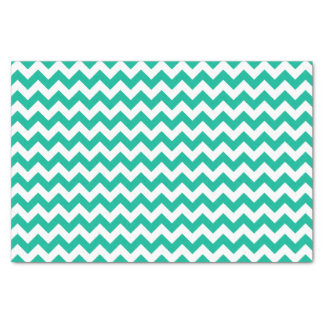 Teal Chevron Pattern Tissue Paper