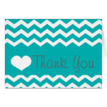 Teal Chevron Thank You Note Stationery Note Card