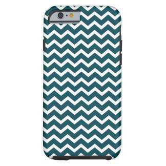 Teal Chevrons Pattern Tough iPhone 6 Case