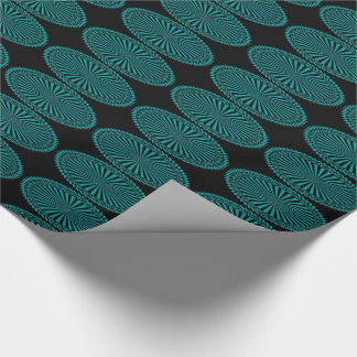 Teal Circles Gift Wrapping Paper