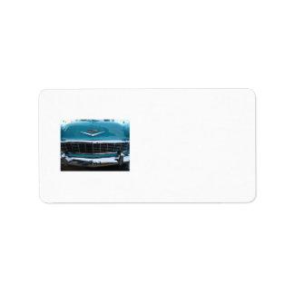 Teal Classic car Label