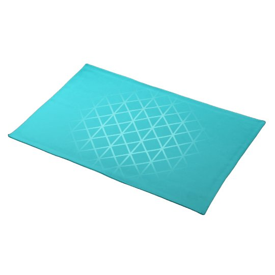 Teal Colour Background Design with Grid Pattern. Placemat