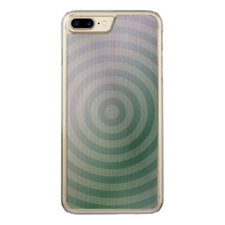 Teal concentric rings carved iPhone 8 plus/7 plus case