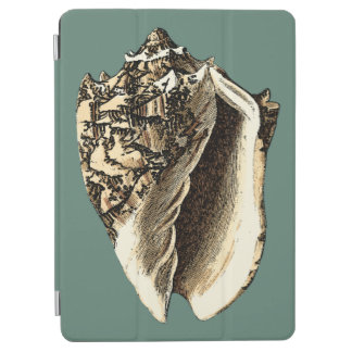 Teal Conch Shell iPad Air Cover