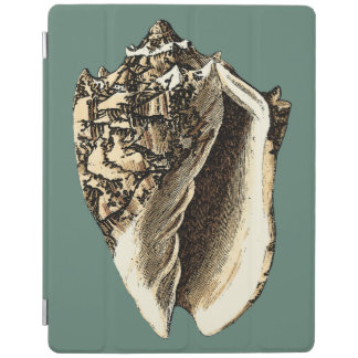 Teal Conch Shell iPad Cover