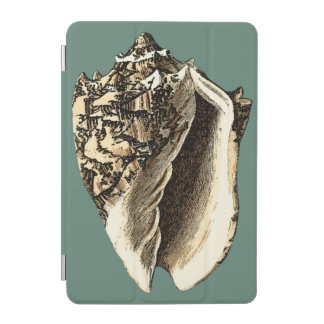 Teal Conch Shell iPad Mini Cover