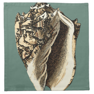 Teal Conch Shell Napkin