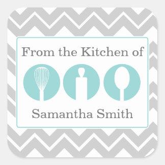 Teal Cooking Utensils Trio Kitchen Labels