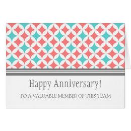 employment anniversary card - Employee Anniversary Cards