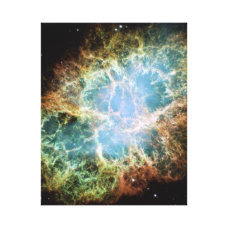 Teal Crab Nebula Canvas Prints