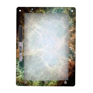 Teal Crab Nebula Dry Erase Board