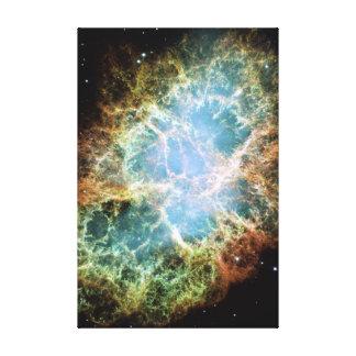 Teal Crab Nebula Gallery Wrap Canvas