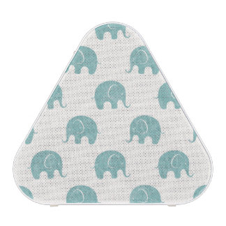 Teal Cute Elephant Pattern