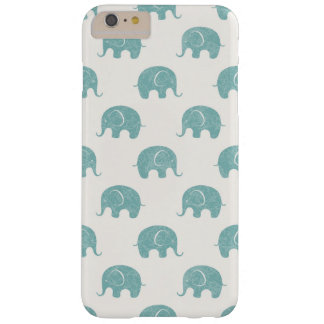 Teal Cute Elephant Pattern Barely There iPhone 6 Plus Case