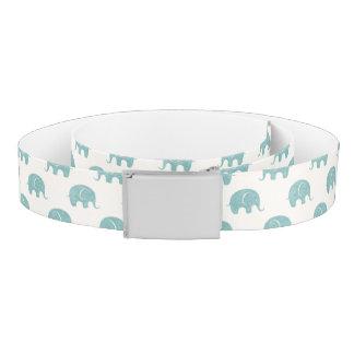 Teal Cute Elephant Pattern Belt