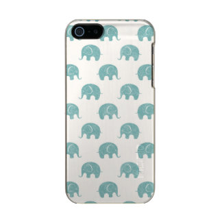 Teal Cute Elephant Pattern Incipio Feather® Shine iPhone 5 Case