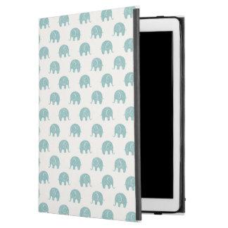 """Teal Cute Elephant Pattern iPad Pro 12.9"""" Case"""