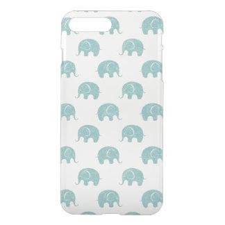 Teal Cute Elephant Pattern iPhone 8 Plus/7 Plus Case