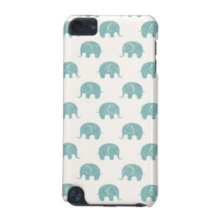 Teal Cute Elephant Pattern iPod Touch (5th Generation) Cases