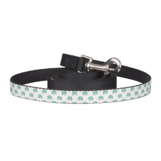 Teal Cute Elephant Pattern Pet Leash