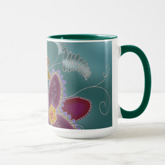 Teal Daffodil Coffee Mug