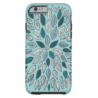 Teal Dahlia Flower Tough iPhone 6 Case