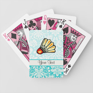 Teal Damask Badminton Bicycle Playing Cards