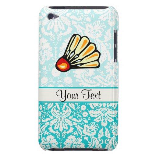 Teal Damask Badminton iPod Case-Mate Cases