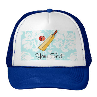 Teal Damask Cricket Cap
