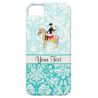 Teal Damask Equestrian iPhone 5 Cases