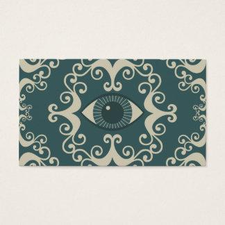 Teal Damask Eyeball Psychic Reader Cards