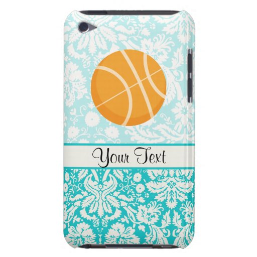 Teal Damask Patten Basketball iPod Touch Case