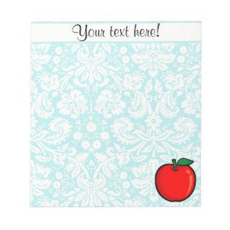 Teal Damask Pattern Apple Notepad