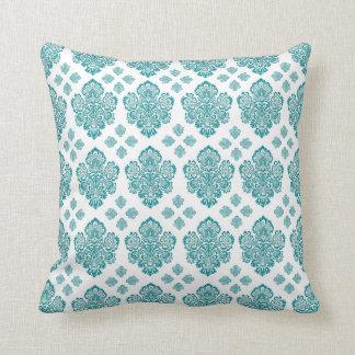 Teal Damask Pillows