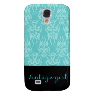 Teal Damask Vintage Case Galaxy S4 Case