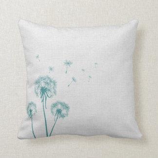 Teal Dandelion Cushion