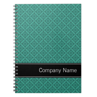 Teal Diamonds Pattern Personalized Spiral Notebooks