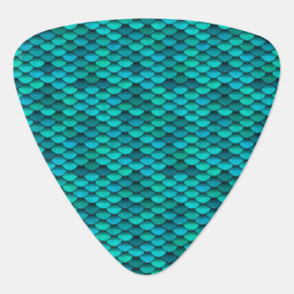 Teal Dragon Scale Blue Green Discs Plectrum