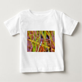 Teal Dragonfly on sedge Baby T-Shirt