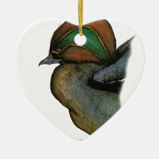 teal duck, tony fernandes christmas ornament