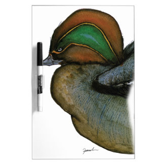 teal duck, tony fernandes dry erase board